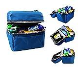 Der&Dies wasserdichte Kühltasche Mittagessenstasche mit dem Tragegurt zur Aufbewahrung Ihren Lunch-Box, Naschen und Obst für Arbeit,Camping, Wandern(Größe:19x20x14CM,Volume:5L) (Blau)