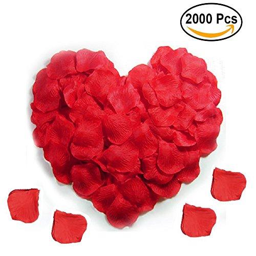 Rosen-Blumenblätter 2000 PC-romantische Rosen-Blumenstrauß für Hochzeitsfest-Brautdekoration