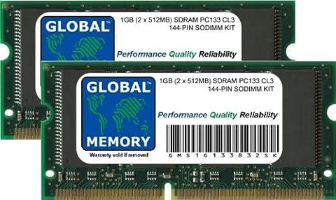 1Go (2 x 512Mo) PC133 133MHz 144-PIN SDRAM SODIMM MÉMOIRE RAM KIT POUR POWERBOOK G3 & TITANIUM POWERBOOK G4