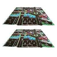 Ongwish 2Pcs Kids Play Mat, Road Map Toy, Kids Road Map Rug, Children