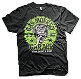 Gas Monkey Garage Offizielles Green Logo 3XL,4XL,5XL Herren T-Shirt (Schwarz), 5X-Large