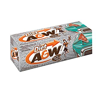 A&W Diet Root Beer 24 cans