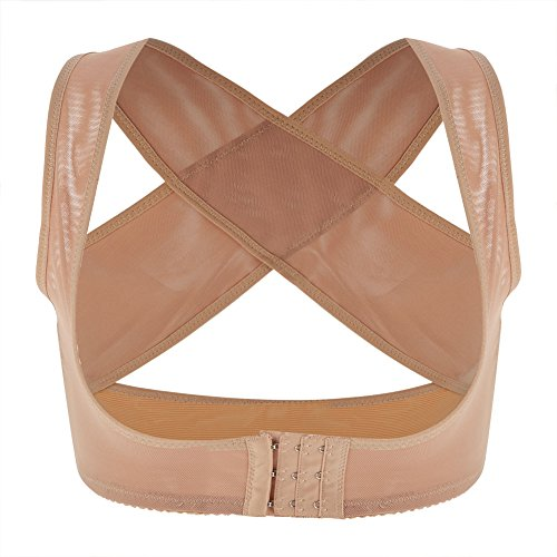 Zerodis Lady Chest Support Correa Ajustable Corrector de Postura Mama Shaping Band para Mujeres(XL-Beige)