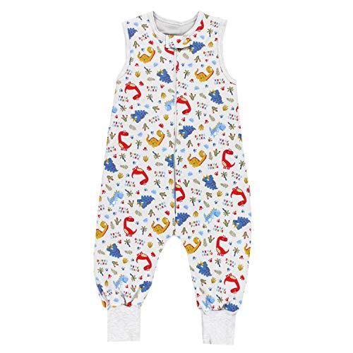 TupTam Baby Unisex Winter Schlafsack mit Beinen, Farbe: Dino Blau, Größe: 104-110