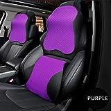 Cuscino 3D Memory Foam per auto, cuscino cervicale in pelle PU, per auto, supporto lordosi, universale per la schiena, accessorio per auto