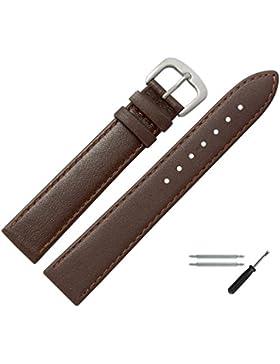 MARBURGER Uhrenarmband 20 mm Leder Braun - Uhrband Set 7592031000420