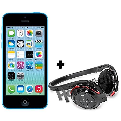 iPhone 5C - 16Go - Bleu + Casque stéréo Bluetooth avec slot mémoire SD (jusqu'à 32 Gb), qualité Hifi avec micro intégré