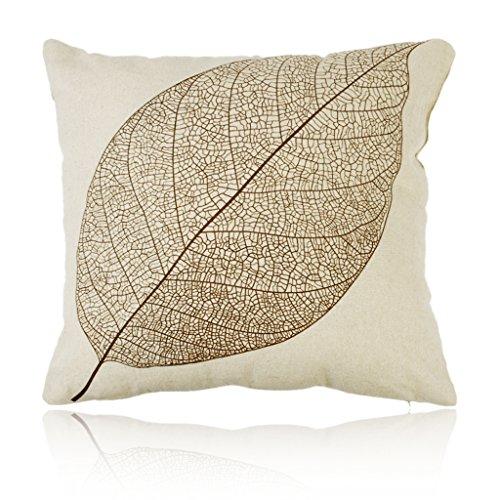 Vintage Blatt Baumwolle Bettwäsche Quadrat Sofa Bett Startseite Dekor Werfen Kissen Fall Kissen Abdeckung