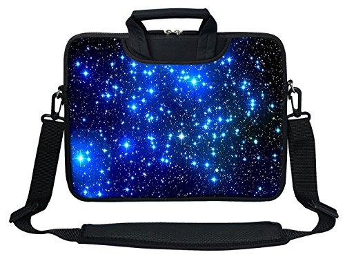 Meffort Inc Neoprene Laptop Shoulder Briefcase Bag Carry Case Handbag For 11.6 12 inch Macbook Notebook Computer - Galaxy Stars