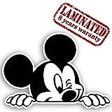 Vinyl Lustiger Aufkleber Autoaufkleber Micky Maus Mickey Mouse Funny Sticker Auto Moto Motorrad Fahrrad Skate Helm Fenster Spiegel Tür Tuning B 87