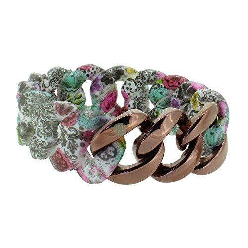 HANSE-KLUNKER ORIGINAL Damen Armband 107409 Edelstahl paisley flower bronze, Armbandlänge:19 - 20 cm (Paisley-20)