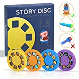 Story Disc 4 Fairy Tales Movies 32 Slides for Story Projection Torch Story Film Replacement for Kids Sleep Story Projector Bedtime Story Toy Great Educational Toy Gift for Boys and Girls