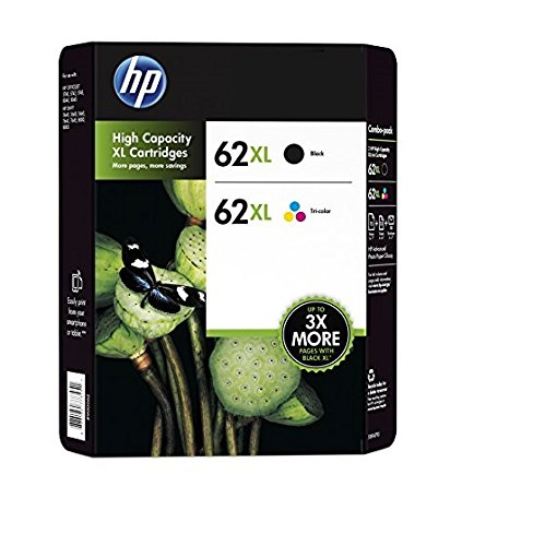 Hp 62xl high yield black/tri-color original ink cartridge content value pack ink cartridge - ink cartridges