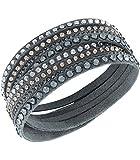 Bracelet Double Tour - Swarovski Slake - Gris foncé - 5120524