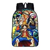 Cosstars One Piece Anime Image Backpack Sac d'école Sac à Dos Cartable pour...