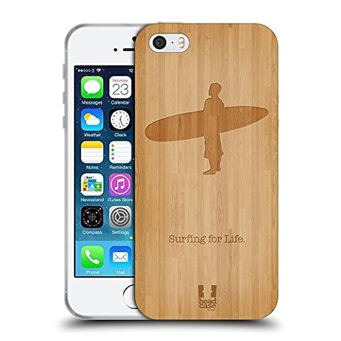 Head Case Designs Surf En Bois Sports Extrêmes - Collection 2 Étui Coque en Gel molle pour Apple iPhone 5 /