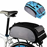 Portapacchi per bicicletta portapacchi borsa, grande capacità multi-funzione Cycling Bicycle bag Bike Rear Seat Carrier basket rack Pannier Taglia libera Grey