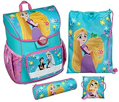 Undercover Schulranzen Set Cosmos, Disney Rapunzel, 4 Teilig Bolsa Escolar, 38 cm, 13.5 Liters, (Blau) de Undercover