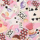 Kobayashi Rosa Stoff mit Hasen Spielkarten Macarons