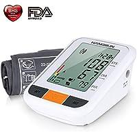 Hangsun Tensiometro de Brazo Digital BM230 Presion Arterial LCD Pantalla con Detección del Pulso Arrítmico, Manguito 22-32cm, 90 Sets Memoria
