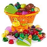 21 Piezas Corte de Frutas y Alimentos Falsos, Alimentos de Juguete,...