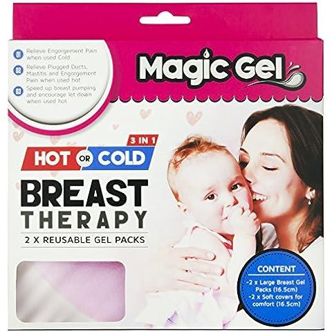 Pack Seno Caldo & Freddo Premium by Magic Gel. Da usare sui Capezzoli Doloranti in Allattamento, o per aprire Dotti Ostruiti e ridurre il dolore della Mastite.