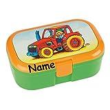 Lunchbox * TRAKTOR plus WUNSCHNAME * für Kinder von Lutz Mauder