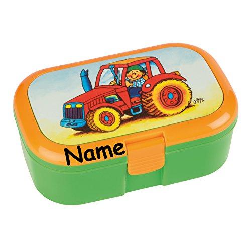 Lunchbox * TRAKTOR plus WUNSCHNAME * für Kinder von Lutz Mauder // Brotdose mit Namensdruck // Perfekt für Jungen & Mädchen // Farm Bauernhof Vesperdose Brotzeitbox Brotzeit (mit Namen)