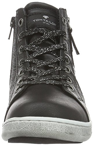 Tom Tailor 1672703, Baskets Basses Fille Noir - Noir