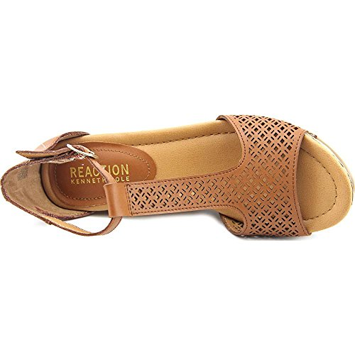 Kenneth Cole Reaction Sole Tan Femmes Synthétique Sandales Compensés Toffee-Caramel-Toffee