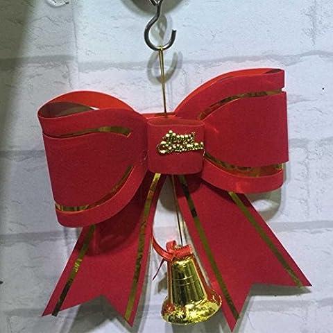 Xshuai Bunte Bowknot Ornament Frohe Weihnachtsbaum Dekoration Party Zubehör Für zuhause Party dekoration (Multi Typ A / B / C / D / E) (Weihnachten Grinch Foto)