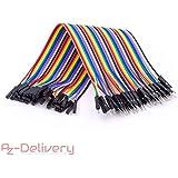 AZDelivery ⭐⭐⭐⭐⭐ Jumper Wire Kabel 40 STK. je 20 cm F2M Female to Male für Arduino und Raspberry Pi Breadboard