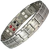 MPS® Titan 4 Elements magnetische Armband für Männer mit Klappschließe, Leistungsstarke 3000 Gauß Magneten, und gratis geschenk beutel