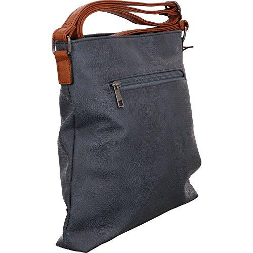 Borsa A Spalla Rieker Donna H1030, 5 X 28 X 30 Cm Blu (jeans)