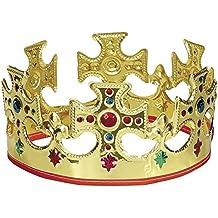 Unique Party -  Corona de Rey de Plástico - Dorada (8308)