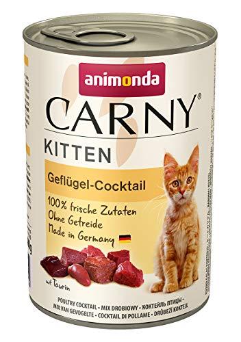 Animonda Carny Kitten Katzenfutter, Nassfutter Katzen bis 1 Jahr, Geflügel-Cocktail (6 x 400 g)