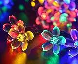 Uping® Solar Lichterkette 50er led Blumen für Party, Garten, Weihnachten, Halloween, Hochzeit, Beleuchtung Deko in Innen und Außenbereich usw. Wasserdicht 7M mehrfarbig