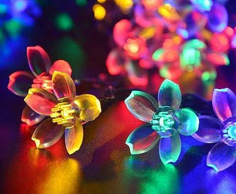 Uping® Solar Lichterkette 50er led Blumen für Party, Garten, Weihnachten, Halloween, Hochzeit, Beleuchtung Deko in Innen und Außenbereich usw. Wasserdicht 7M