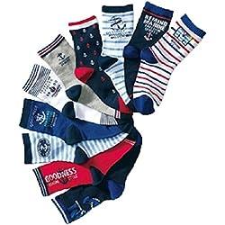 JT-Amigo Pack de 10 Pares de Calcetines de algodón para Niños