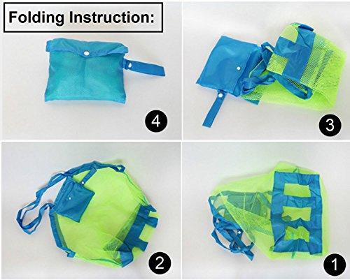 Westeng bambini spiaggia giocattoli borse detriti Tool Storage Bags Large size Storage mesh bag, 1PC Blue