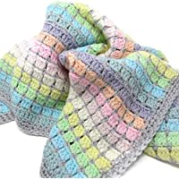 Vintage Rainbow Crochet Baby Blanket Kit - the perfect gift for crochet lovers and mums-to-be - everything you need to make a cosy cot blanket for a new arrival