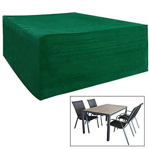 WOLTU GZ1161-a Schutzhülle Schutzhaube Abdeckplane Abdeckhaube Plane Hülle für Gartenmöbel wasserabweisend Grün 70x200x160 cm für Sitzgruppe Garnitur