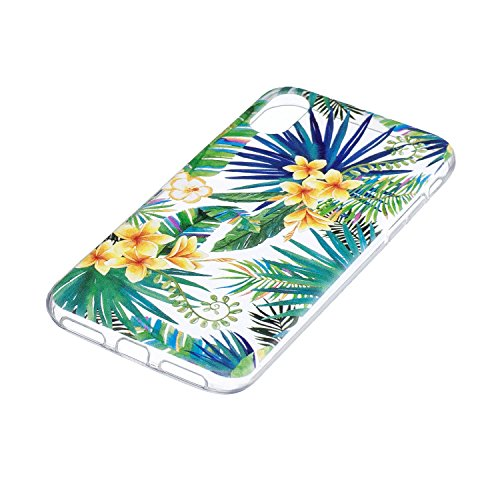 Per iPhone X Cover , YIGA Moda bianco margherita Cristallo Trasparente Cassa Silicone Morbido TPU Case Caso Shell Protettiva Custodia per Apple iPhone X (5,8) WM96