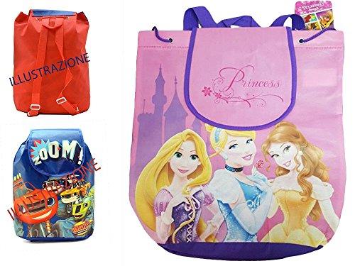 takestop® Rucksack Rucksack Tasche Prinzessinnen Disney Prinzessin Rapunzel Belle Cinderella Disney Tasche 36cm Meer Strand Schule Lunchbox bimbina (Cinderella Tasche)
