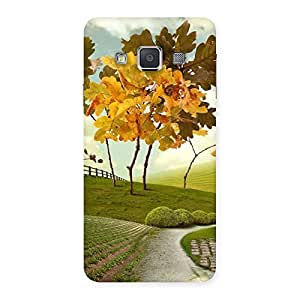 Stylish Printed Way Back Case Cover for Galaxy A3