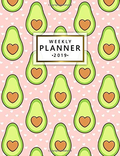 Weekly Planner 2019: Pink heart...