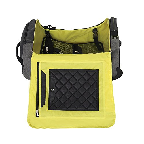 Imagen de  con ruedas compresible de 55x40x20 manhattan gris / amarillo  alternativa