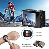 Action Kamera, 4K WIFI Ultra HD Videokamera Wasserdichte DV Recorder 12MP Tauchen Actionkameras, 2...