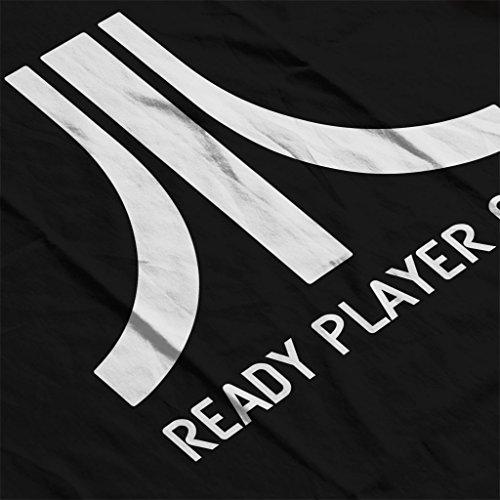 Atari Logo Ready Player One Men's Hooded Sweatshirt Black