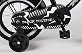 12 Zoll Fahrrad Qualitäts Kinderfahrrad matt schwarz bike Black Cruiser 21201 -